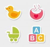 Ícones de bebê — Vetor de Stock