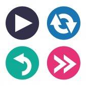 Pijlen pictogrammen — Stockvector