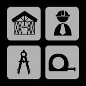 Bouw pictogrammen — Stockvector