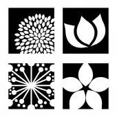 Bloemen pictogrammen — Stockvector