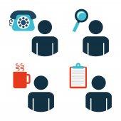 Ícones de escritório — Vetor de Stock