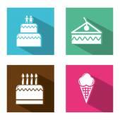 Bakkerij pictogrammen — Stockvector
