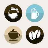 Ícones de café — Vetor de Stock