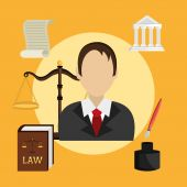 Law design. — Stock Vector