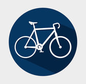 Projeto da bicicleta. — Vetor de Stock