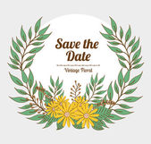 Save the date design. — Stock Vector