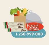 Food delivery  — Stock Vector