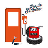 Service station  — Stock Vector