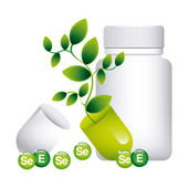 Vitamins and suplements  — Stock Vector