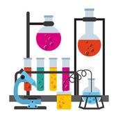 Scientific laboratory  — Stock Vector