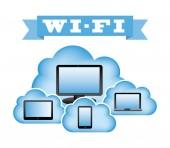 Wifi connection  — Stock Vector
