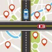 Road traffic — Stock Vector