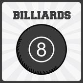 Billiards sport  — Stock Vector