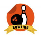 Bowling sport  — Stock Vector