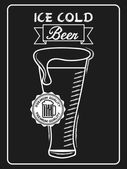 Zimne piwo — Wektor stockowy