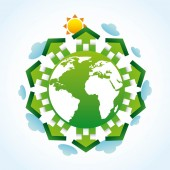 Eco landscape  — Stock Vector