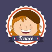 France kid  — Stock Vector