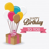 Happy birthday design. — Stock Vector
