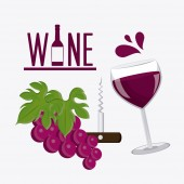 Projeto vinho. — Vetor de Stock