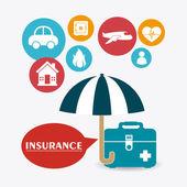 Insurance design. — Stock Vector
