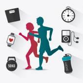 Fitness ontwerp. — Stockvector