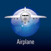 Vliegtuig ontwerp. — Stockvector