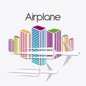 Airplane design. — Stockvektor