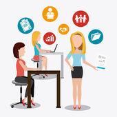 Coworking design. — Stock Vector