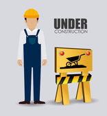 Under construction design. — Stockvektor