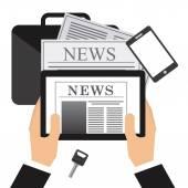 Newspaper concept design — Stock vektor