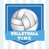 Volleyball emblem design — Stock Vector