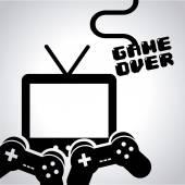 Video game design — Stock Vector