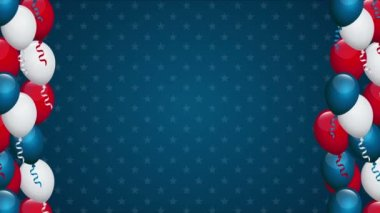 USA background, Video animation — Stock Video