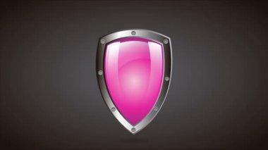 Shield, Video animation — Stock Video