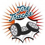 タイヤ トラック設計 — ストックベクタ #74361807