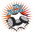 Tire Tracks design — Vetor de Stock  #74361807