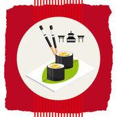 Japon yemekleri — Stok Vektör