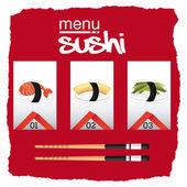 Japanese food  — Vetor de Stock
