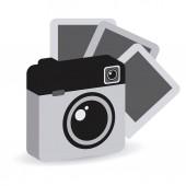 Photography camera  — Vetor de Stock