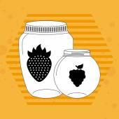 Barattolo di frutta — Vettoriale Stock