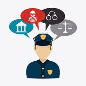 Law design. — Stock Vector