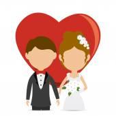 Wedding card design. — Stock Vector