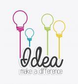 Idea design. — Stock Vector