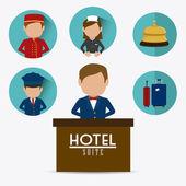 Hotel design. — Stock Vector
