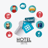 Hotel design. — Stock Vector