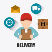 Delivery design. — Stock Vector