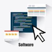 Desenho de software. — Vetor de Stock