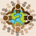 Multiethnic diversity — Stock Vector #74807509