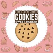 Deliciosas galletas — Vector de stock