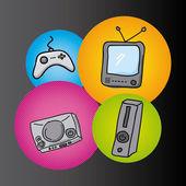 Video games — Stock Vector